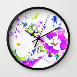 Paper Flowers Wall Clock