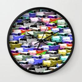 Gridlock Vintage Parking Lot Wall Clock