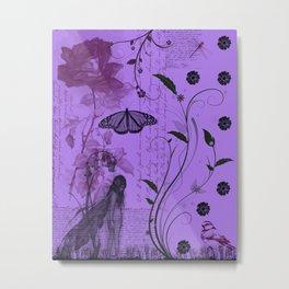 """Little Miss Fairy"" Metal Print"