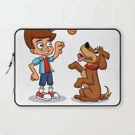 Young Boy Pitcher for Baseball and Softball Laptop Sleeve