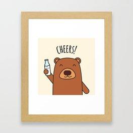 Cheers, Bear! Framed Art Print