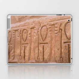 Karnak Temple Ankh carvings Laptop & iPad Skin