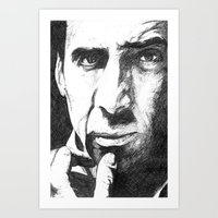 nicolas cage Art Prints featuring Nicolas Cage by DeMoose_Art