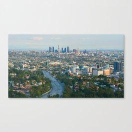 Los Angeles Skyline and Los Angeles Basin Panorama Canvas Print