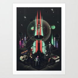 Dr. Oracle Was Under the Influence Art Print