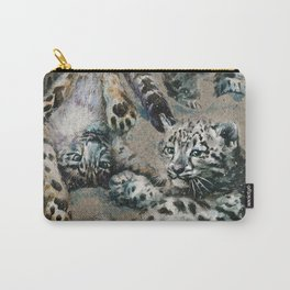 Snow leopard 2 background Carry-All Pouch