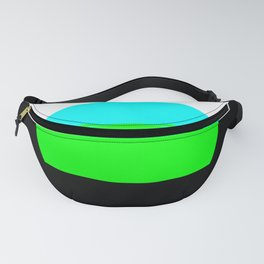 Aqua Blue & Green Mod Art Fanny Pack