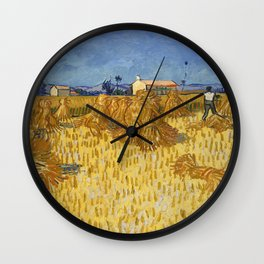 Corn Harvest in Provence Wall Clock