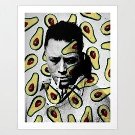 Albert Camus Avocado Pattern Art Print
