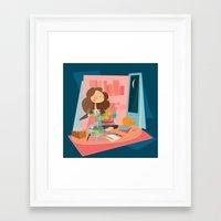 hermione Framed Art Prints featuring Hermione by breakfastjones