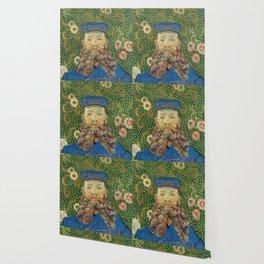 Portrait of the Postman Joseph Roulin by Vincent van Gogh Wallpaper