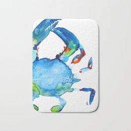 Blue Claw Crab - Nautical - Summer - Ocean - Sea Life Bath Mat