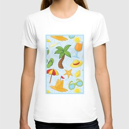Summer pattern T-shirt