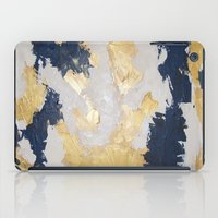 maps iPad Cases featuring Golden Maps by Eunieverse Art