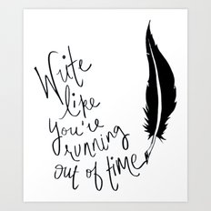 hamiton musical quote Art Print