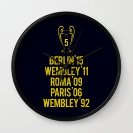 Barcelona Champions - Berlin 2015 Wall Clock