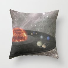 The Musical Universe Throw Pillow