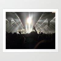 concert Art Prints featuring Concert by amollt