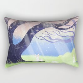 Soft Light On Soft Bunnies In Aloquil's Glades Rectangular Pillow