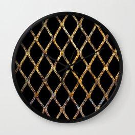 Rusty Corrugated Mesh Wall Clock