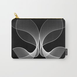 Abstract Butterfly black and white Carry-All Pouch