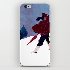 walking on snow iPhone & iPod Skin