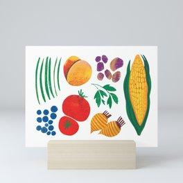 August Vegetables - Vegetable Series Mini Art Print