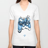 gamer V-neck T-shirts featuring Gamer by Hey Yet