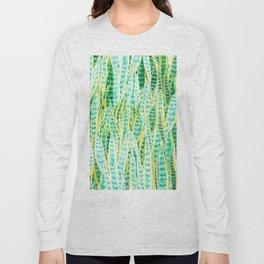 green snake plant pattern Long Sleeve T-shirt
