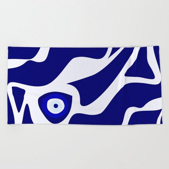 Evil Eye Lava Pattern Beach Towel