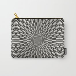 High tech silver metal surface Carry-All Pouch