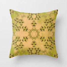 Hay Bales Mandala Throw Pillow