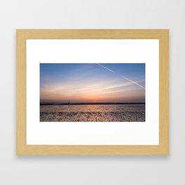 Humber Estuary Sunrise Framed Art Print