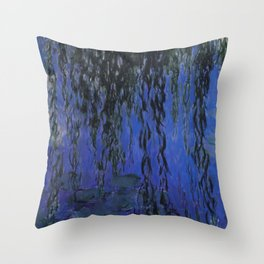 "Claude Monet ""Water Lilies and Weeping Willow Branches"", 1919 Throw Pillow"