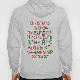 Christmas ABC colorful vintage wooden toys Alphabet Hoody