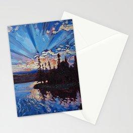 Northwoods Sunset Stationery Cards