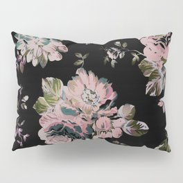 Dark Floral Pink Pillow Sham