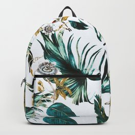 Exotic watercolor nature Backpack