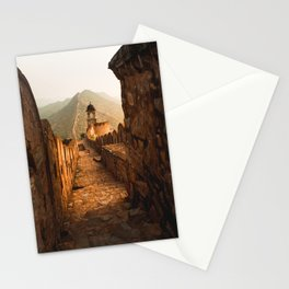 Brown Stone Pathway Viewing Mountain Stationery Cards