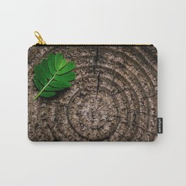 Green leaf Brown wood Carry-All Pouch