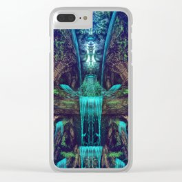 Waters Fall - Fractal - Visionary - Manafold Art Clear iPhone Case