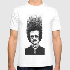 Edgar Allan Poe MEDIUM Mens Fitted Tee White