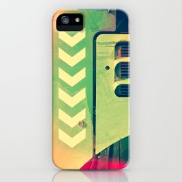 Road Roller Chevron 02 - Industrial Abstract (everyday 18.01.2017) iPhone Case