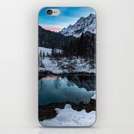 Zelenci springs at dusk iPhone Skin