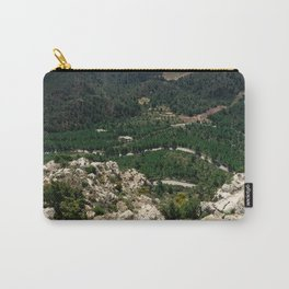 Landscape from the top of the hill Carry-All Pouch