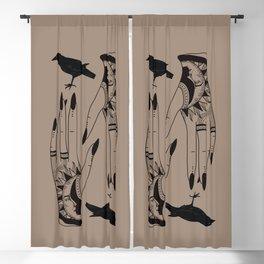 Gypsy Soul - Spiritual Gangster - Bird Print - Tattoo Hand Print - Digital Download - Mystical Decor Blackout Curtain
