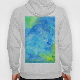 Ocean Breeze Watercolor Texture Hoody