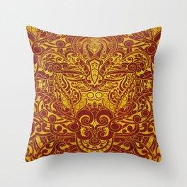 Balinese abstract art Throw Pillow