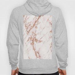 Elegant ivory gray rose gold glitter marble pattern Hoody