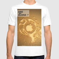 Are we alone ? Mens Fitted Tee White MEDIUM